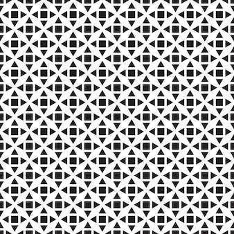 幾何学的なシームレスパターン。黒と白の背景