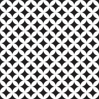 Безшовная картина геометрическая. черно-белая предпосылка.