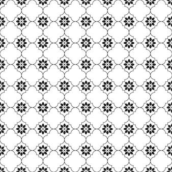 Безшовная картина геометрическая. черно-белая предпосылка. дизайн для предпосылки