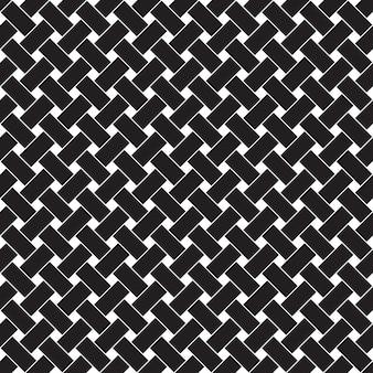 幾何学模様のシームレスなパターン。黒と白の背景。