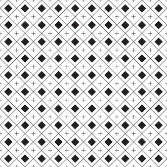 幾何学的なシームレスパターン。黒と白の背景。背景のデザイン