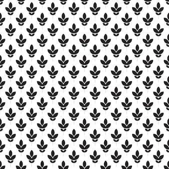 シームレスなパターン。黒と白の花