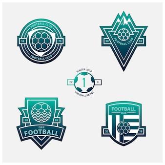 サッカーロゴまたはサッカーバッジ。
