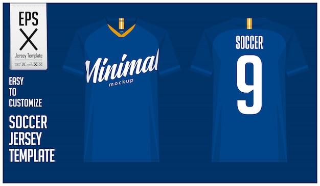 Минимальный дизайн шаблона футболки или футбольного комплекта