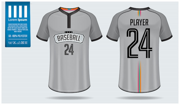 Шаблон дизайна бейсбольного свитера