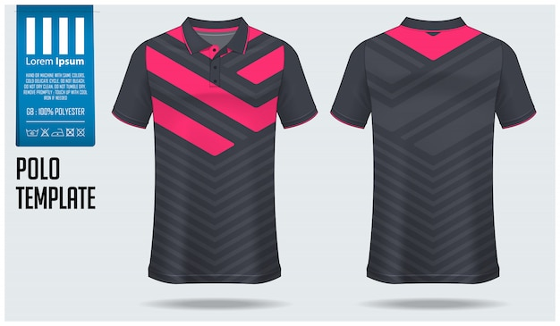 Рубашка поло шаблон дизайна.