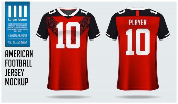 アメリカンフットボールジャージーまたはフットボールキットテンプレート