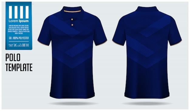 ポロシャツのテンプレートデザイン。
