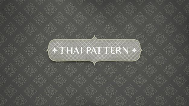 抽象的な伝統的なタイパターンの背景。