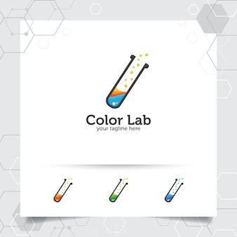 実験室または実験室のロゴ