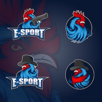 Логотип петух киберспорт