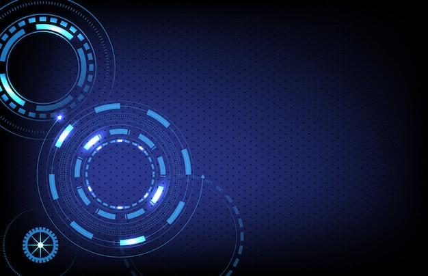 未来的なサークル技術の抽象的な背景