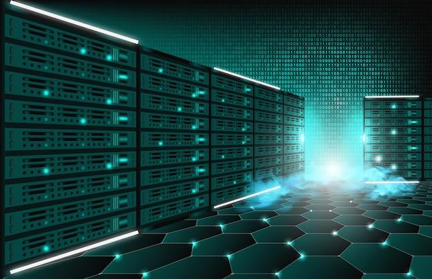 技術インターネットサーバーデータルームの抽象的な背景