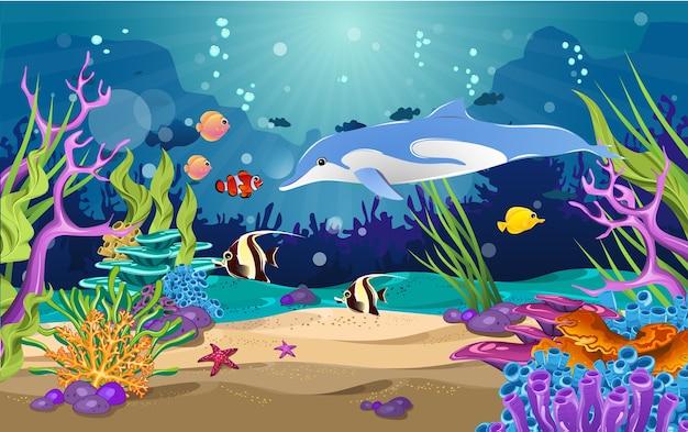 イルカとサンゴの海
