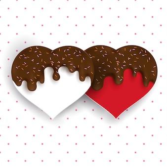 チョコレートと愛の形のしぶき