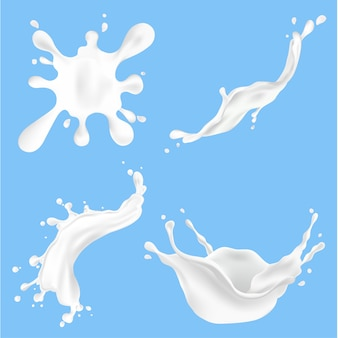 スプラッシュ新鮮な牛乳のイラスト