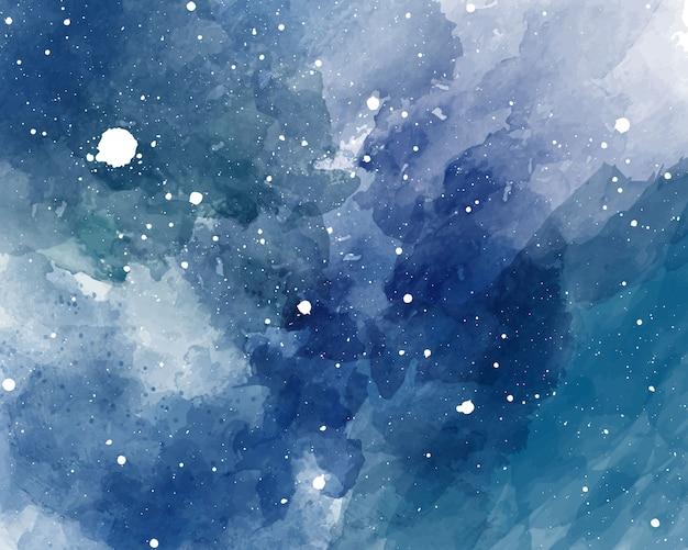 Акварель космический фон звездное небо акварель