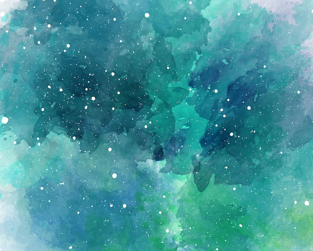 水彩空間の背景星空水彩テクスチャ