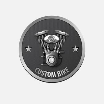 ヴィンテージカスタムバイクレトロラベルデザイン