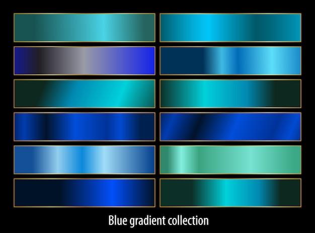 抽象的なブルーグラデーションセットコレクション