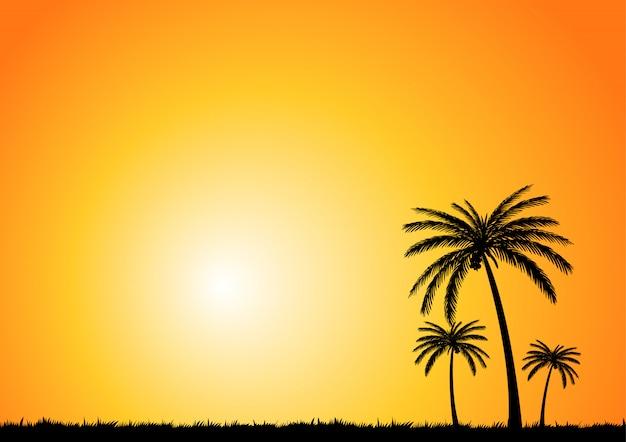 ココナッツツリー夏の背景