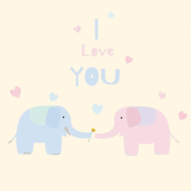 かわいい象の恋人