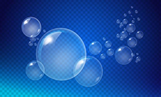 Прозрачные белые пузыри