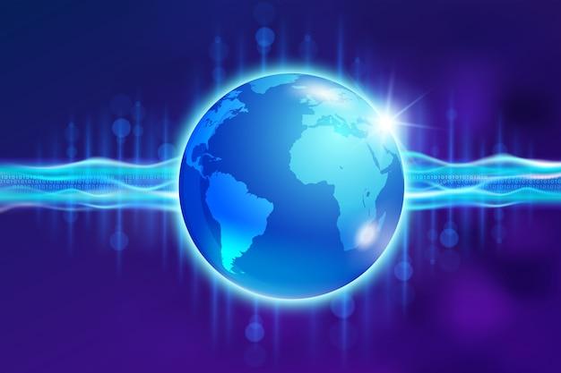 デジタル通信の抽象的な世界。