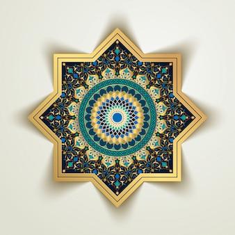 Арабский цветочный и марокко геометрический рисунок