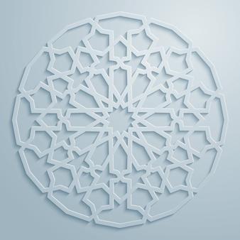 古典的なアラビアラウンドパターン飾り