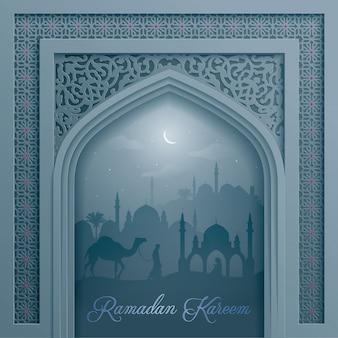 Дверная мечеть с арабским рисунком