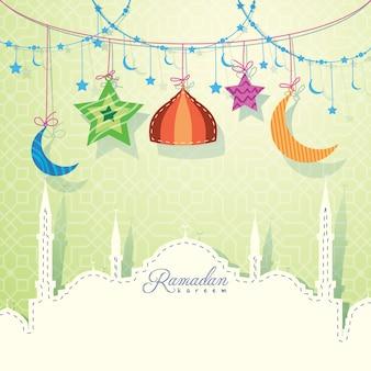 ラマダンカリームのイスラム挨拶の背景