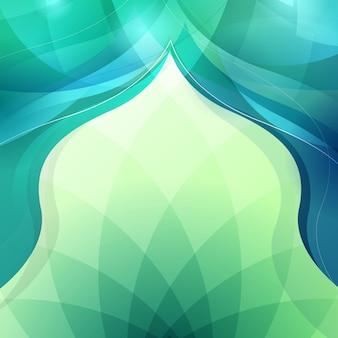 イスラム挨拶デザインの抽象的な背景