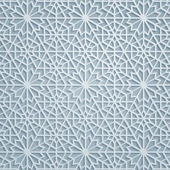 エレガントなアラビア幾何学模様の背景