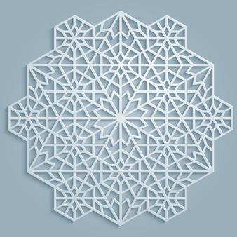 幾何学的な古典的なラウンドアラビア模様
