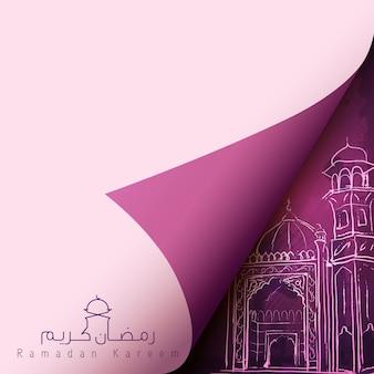 イスラムベクトルデザイン挨拶背景ラマダンカリーム