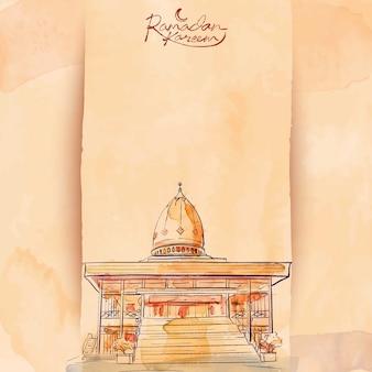 ラマダンカリームイスラムベクトル