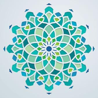 アラビアパターンの幾何学的な華やかな背景