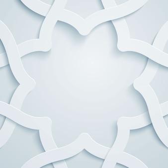 イスラムグラフィックベクトルパターンの幾何学的な飾り