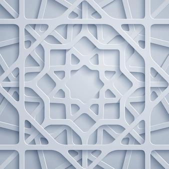 アラビア模様の幾何学的な飾り