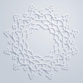 サークル飾りアラビア円形パターンのベクトルの背景