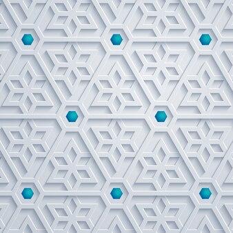 幾何学的な飾りアラビアパターンの抽象的な背景