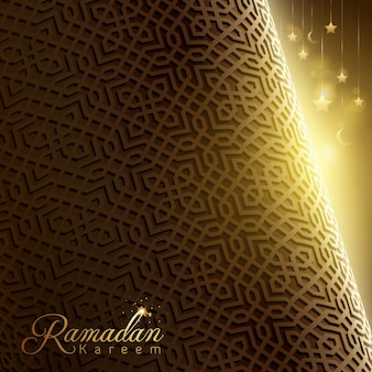 Рамадан карим исламское приветствие арабский геометрический фон дизайн