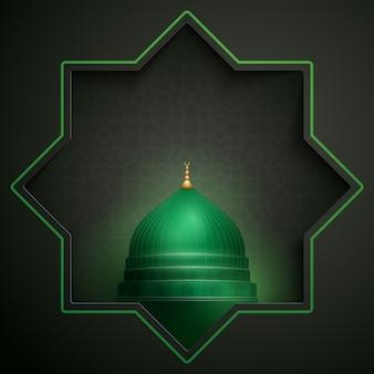 ナバウィモスクドームイスラムグリーティングカード