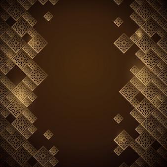 アラビア語の幾何学的なモロッコ飾りの背景