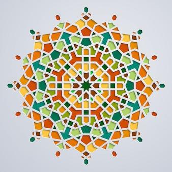 アラビアの幾何学的なモロッコサークル飾り