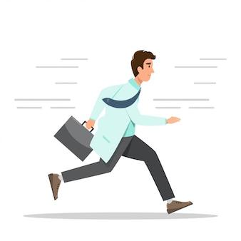 救急病院のコンセプトです。医者は袋を持って走っています。