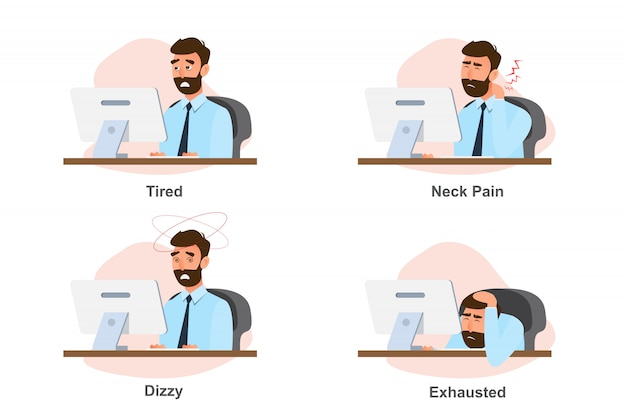 オフィス症候群、勤勉からのビジネスマンの病気