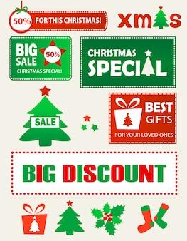 クリスマスのショッピングデザイン要素