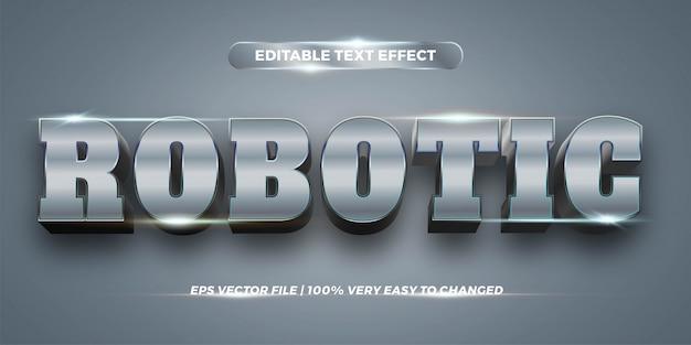 Редактируемый текстовый эффект - роботизированный стиль текста
